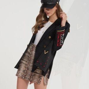 NWT | Storets | Valencia Embroidered Navy Jacket